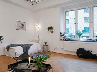 ,45平,5万,现代,一居,卧室,白色,