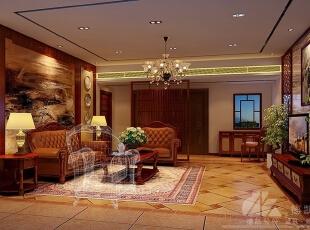 ,500平,40万,现代,别墅,客厅,原木色,
