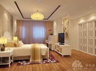 ,500平,40万,现代,别墅,卧室,白色,原木色,