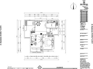 海马公园89平两室两厅新古典风格装修户型图,89平,7万,新古典,海马公园户型图,美巢装饰,