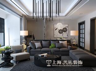 亚太明珠125平3室2厅港式风格装修效果图--沙发墙,125平,15万,小资,三居,