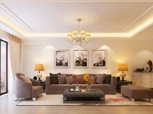 ,客厅,简约,黄色,现代小资情调,
