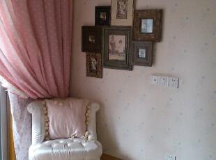 很喜欢这款小沙发,有公主般梦想。,351平,65万,美式,别墅,粉色,白色,原木色,儿童房,田园,小资,宜家,欧式,