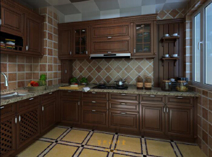 尊享生活品质,苛求每一个细节,好厨房不仅为家人带来健康美食,同时也能促进家人更多相聚的美好。,351平,65万,美式,别墅,厨房,欧式,小资,