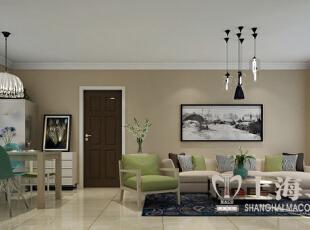 升龙城装修89平2室2厅户型简约风格案例效果图展示——沙发背景墙装修效果图,89平,6万,现代,两居,客厅,