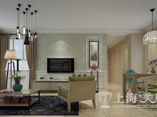 升龙城现代简约风格装修案例两室两厅效果图——电视背景墙~,89平,6万,现代,两居,客厅,