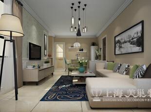 升龙城装修设计案例效果图展示,两室两厅89平客厅装修效果图,89平,6万,现代,两居,客厅,