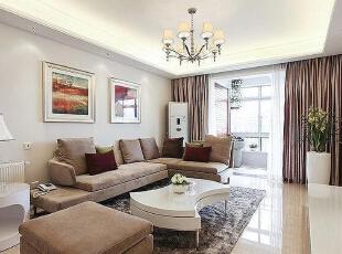 ,120平,80000万,新古典,三居,客厅,