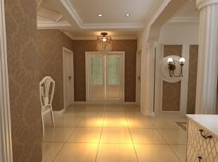 简欧风格就是简化了的欧式装修风格。也是目前住宅别墅装修最流行的风格。简欧风格更多的表现为实用性和多元化。简欧家具包括床、电视柜、书柜、衣柜、橱柜等等都与众不同,营造出日常居家不同的感觉。,120平,51万,欧式,三居,玄关,