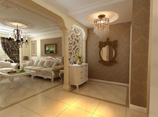 简欧风格就是简化了的欧式装修风格。也是目前住宅别墅装修最流行的风格。简欧风格更多的表现为实用性和多元化。简欧家具包括床、电视柜、书柜、衣柜、橱柜等等都与众不同,营造出日常居家不同的感觉。,120平,51万,欧式,三居,客厅,