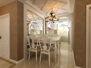 简欧风格就是简化了的欧式装修风格。也是目前住宅别墅装修最流行的风格。简欧风格更多的表现为实用性和多元化。简欧家具包括床、电视柜、书柜、衣柜、橱柜等等都与众不同,营造出日常居家不同的感觉。,120平,51万,欧式,三居,餐厅,