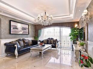 ,183平,30万,新古典,三居,客厅,