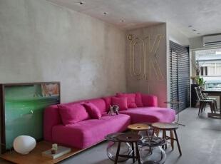 ,161平,15万,现代,三居,客厅,红色,