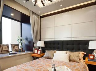 ,卧室,简约,白色,背景墙,飘窗,