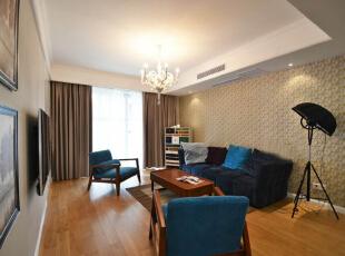 兰亭湾畔94㎡现代简约风格装修案例,94平,7万,现代,三居,长沙装修,客厅,宅速美装饰,