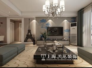 郑州保利百合130平三室两厅现代简约装修效果图--电视墙,130平,9万,现代,三居,