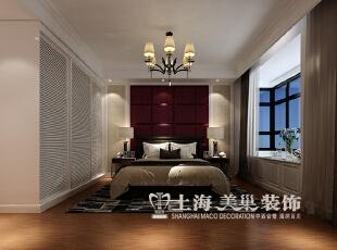 保利百合130平三室两厅现代简约装修效果图--主卧,130平,9万,现代,三居,
