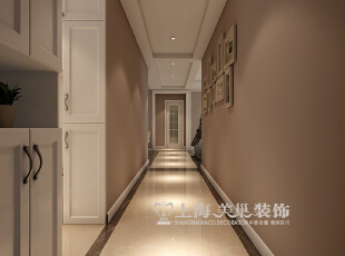 保利百合130平三室两厅现代简约装修效果图--走廊,130平,9万,现代,三居,