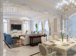 上海尚层装饰-圣堡别墅法式风格独栋别墅客厅设计图,550平,60万,欧式,别墅,