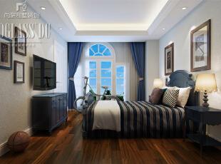 上海尚层装饰-圣堡别墅法式风格独栋别墅卧室设计图,550平,60万,欧式,别墅,