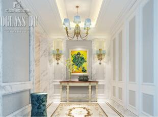 上海尚层装饰-圣堡别墅法式风格独栋别墅门厅设计图,上海尚层装饰,上海别墅装潢,上海圣堡别墅,门厅设计,上海展会,