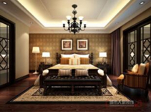 卧室,美式,复式,卧室,