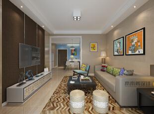 ,88平,9万,现代,两居,客厅,原木色,小资,黄色,蓝色,简约,