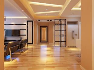 ,116平,7万,现代,三居,走廊,暖色,简约,