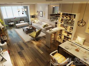 九龙城120平3室2厅现代简约装修样板间-客餐厅效果图,120平,8万,现代,三居,客厅,
