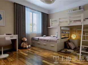 九龙城三室两厅现代简约装修案例-儿童房效果图,120平,8万,现代,三居,儿童房,