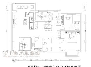 九龙城8号楼120平装修户型图及平面布局方案,120平,8万,现代,三居,