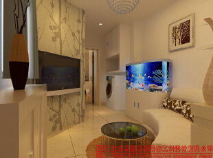 电视墙,65平,现代,一居,客厅,