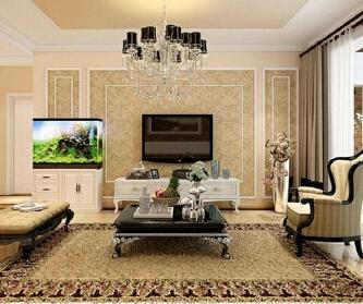 各种风格的客厅电视背...