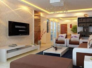 各种风格的客厅电视背景墙装修效果图(2),30平,2万,现代,两居,客厅,
