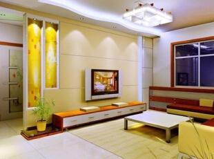 各种风格的客厅电视背景墙装修效果图(5),30平,2万,现代,两居,客厅,