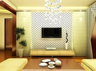 各种风格的客厅电视背景墙装修效果图(6),30平,2万,现代,两居,客厅,