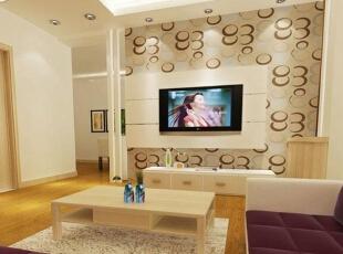 各种风格的客厅电视背景墙装修效果图(7),30平,2万,现代,两居,客厅,