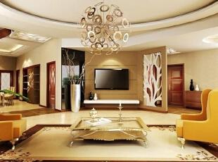 各种风格的客厅电视背景墙装修效果图(8),30平,2万,现代,两居,客厅,