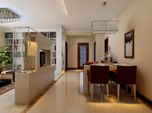 餐桌跟餐椅的选择,搭配上精美的餐具,让人倍感亲切,透着温和而自然的味道。,173平,15万,现代,三居,餐厅,