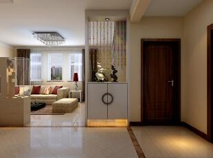 设计师把客厅与走廊的隔断设计成墙电视墙,简约中透着典雅,典雅中流露出质感,通过自然光线的照耀,表现出住户精致的生活追求与时尚的品味。,173平,15万,现代,三居,
