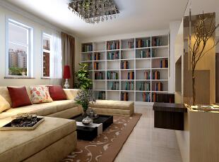 但看客厅当中沙发与书架,感觉正厅比较协调、同时色彩,风格搭配上面做到了极致。以及衣柜是嵌入式定制版衣柜。也是容易简易清扫。,173平,15万,现代,三居,客厅,