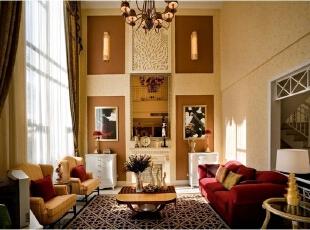 美式乡村_别墅装修,700平,70万,美式,别墅,客厅,