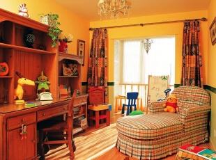 美式乡村_别墅装修,700平,70万,美式,别墅,书房,