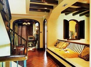 美式乡村_别墅装修,700平,70万,美式,别墅,休闲区,楼梯间,