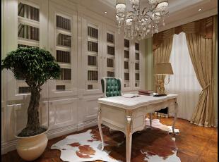 书房是主人读书写字或工作的地方,宁静的色彩,沉稳的材质,便足以让人在这样恬静空间,典雅的西式书房,书香气息浓烈,并与户外通透式阳光房融为一体。生灵动,溢灵感。,400平,50万,欧式,别墅,
