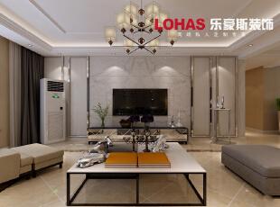 户主是一位完美主义者,对生活中的要求很细致,所以设计师采用简洁大方为空间的主基调,从电视墙大理石的造型到时尚软包沙发的选用在不失细腻感的前提下同时也赋予以空间温馨的感觉。,140平,10万,简约,三居,石家庄海棠湾装修,客厅,