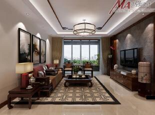 中式风格带给人庄重与优雅的双重感受,一直以来,中式风格以它气势恢宏、华丽华贵,高空间、大进深、雕梁画栋,中式风格中家具陈设讲究对称,重视文化意蕴:中式实木家具加上中国山水屏风的设计,中国元素运用的恰当好处。,130平,15万,中式,三居,客厅,