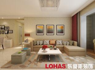 2、沙发墙不做复杂造型,以装饰画为点缀。,136平,9万,简约,三居,客厅,