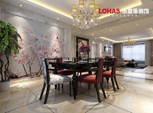 米金色调的餐厅设计,很好的刺激了食欲。,138平,12万,现代,三居,餐厅,