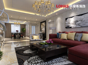 客厅出其不意又有种淡出的热情,再配以灯光相佐,使整体色调简洁而温暖。墙角一盆高大的绿植花卉成为了绿色生命在此空间的展现,让本来后现在简约的气氛中点缀了自然的气息,一道风景就展现在眼前了。,138平,12万,现代,三居,客厅,